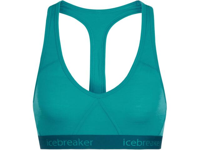 Icebreaker Sprite Racerback Bra Women arctic teal/kingfisher